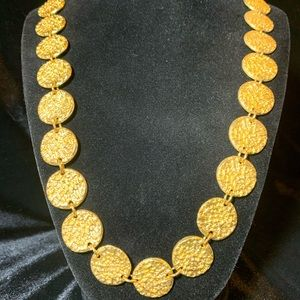 Chico's gold tone coin necklace
